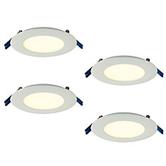 Pro Series 4-inch Warm White 2700K Integrated LED Recessed Kit (4-Pack) - ENERGY STAR®