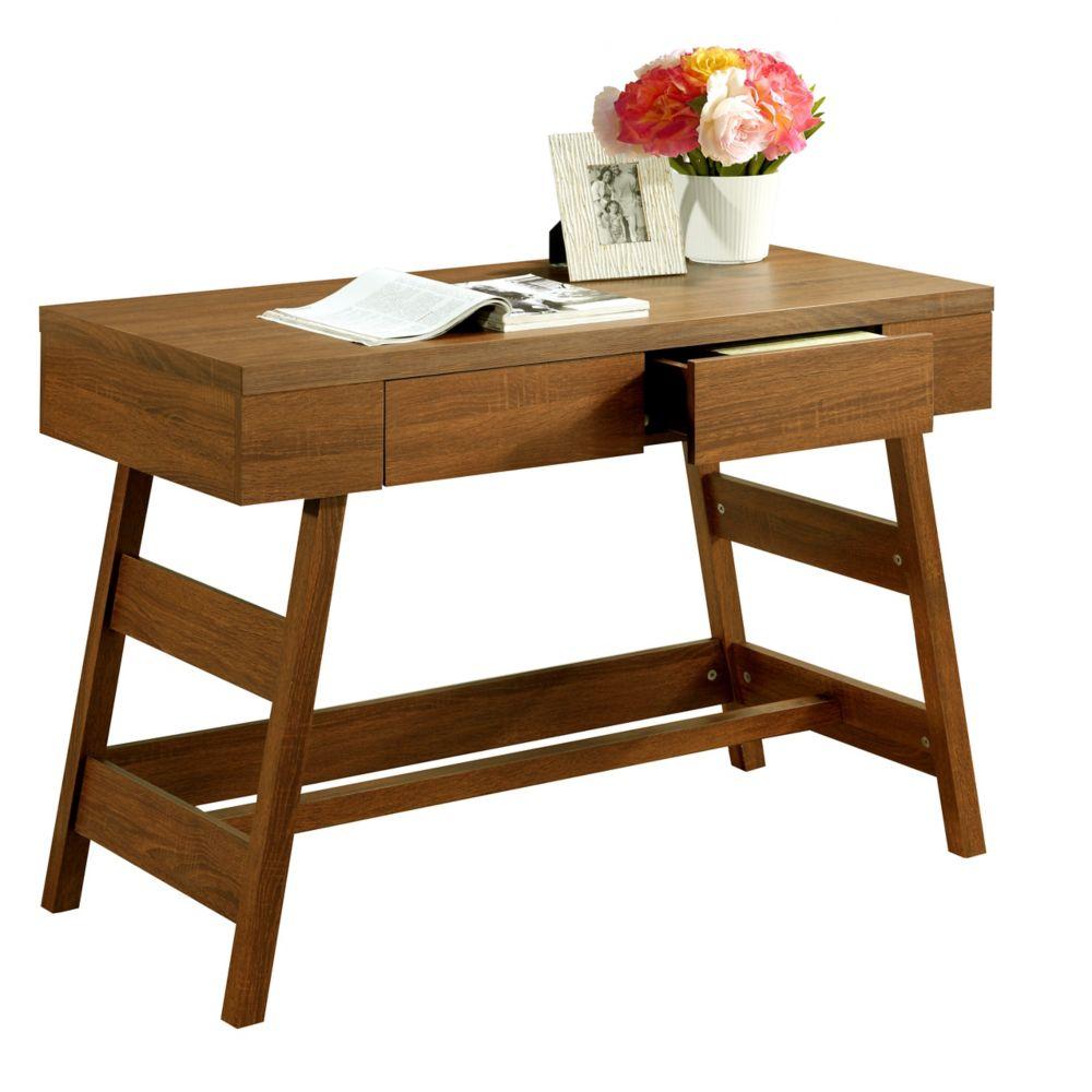 Folio Warm Oak Two Drawer Desk