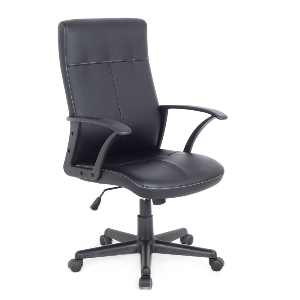 Workspace Black Leatherette Office Desk Chair