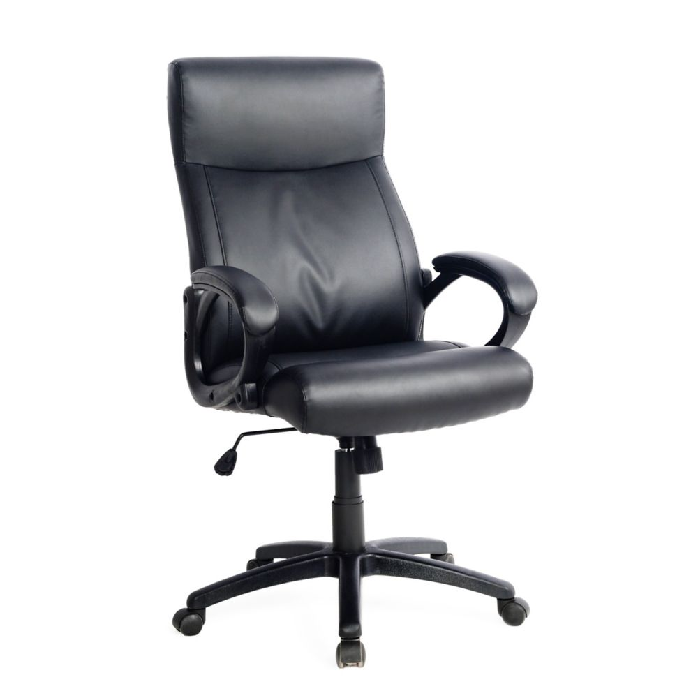 Workspace Black Leatherette Managerial Office Chair