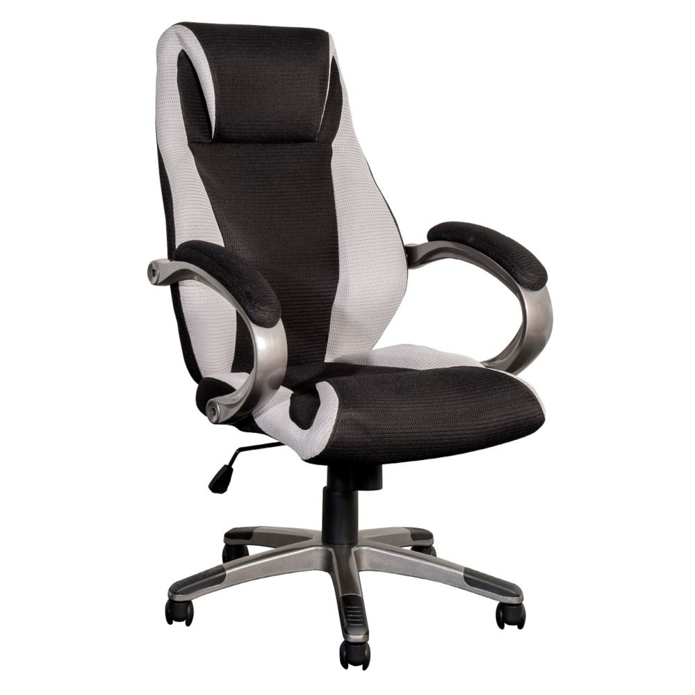 BIFMA Workspace Black And Grey Mesh Fabric Managerial Office Chair