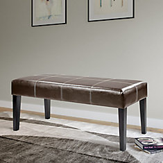 Antonio 47-inch x 19-inch x 16-inch Solid Wood Frame Bench in Brown