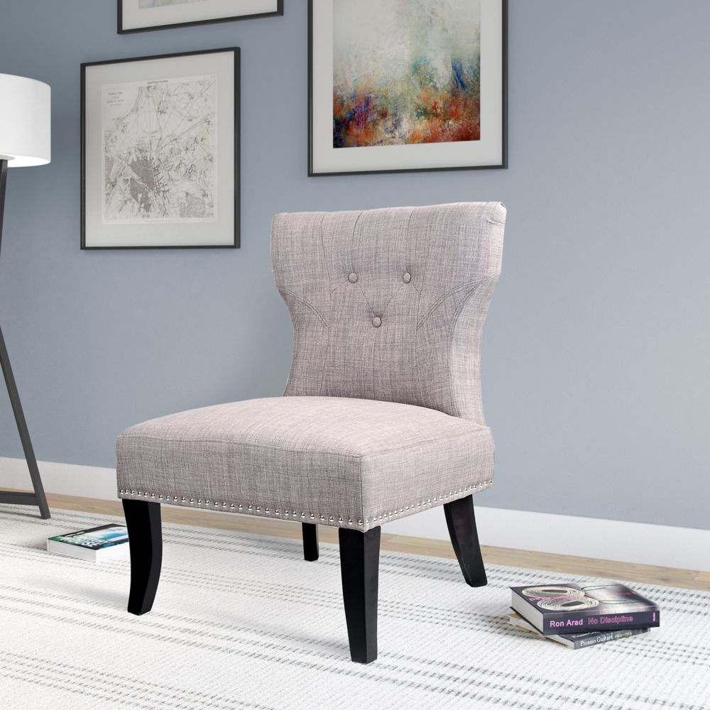 Antonio Lounge Chair In Woven Grey