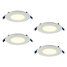 Pro Series 3-inch Warm White 2700K Integrated LED Recessed Kit (4-Pack)