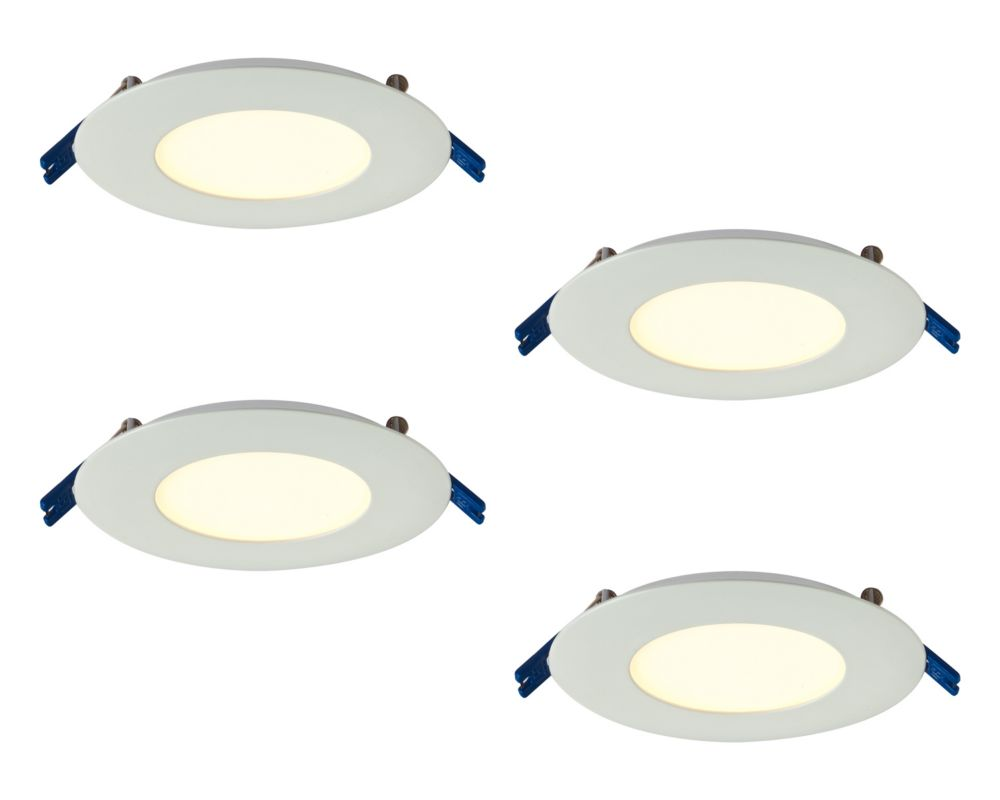 3 Inch Pro Series Recessed Round LED Panel White 4-Pack
