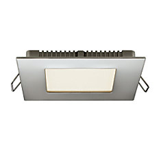 4 Inch Ultraslim Recessed Square LED Panel Chrome - ENERGY STAR®