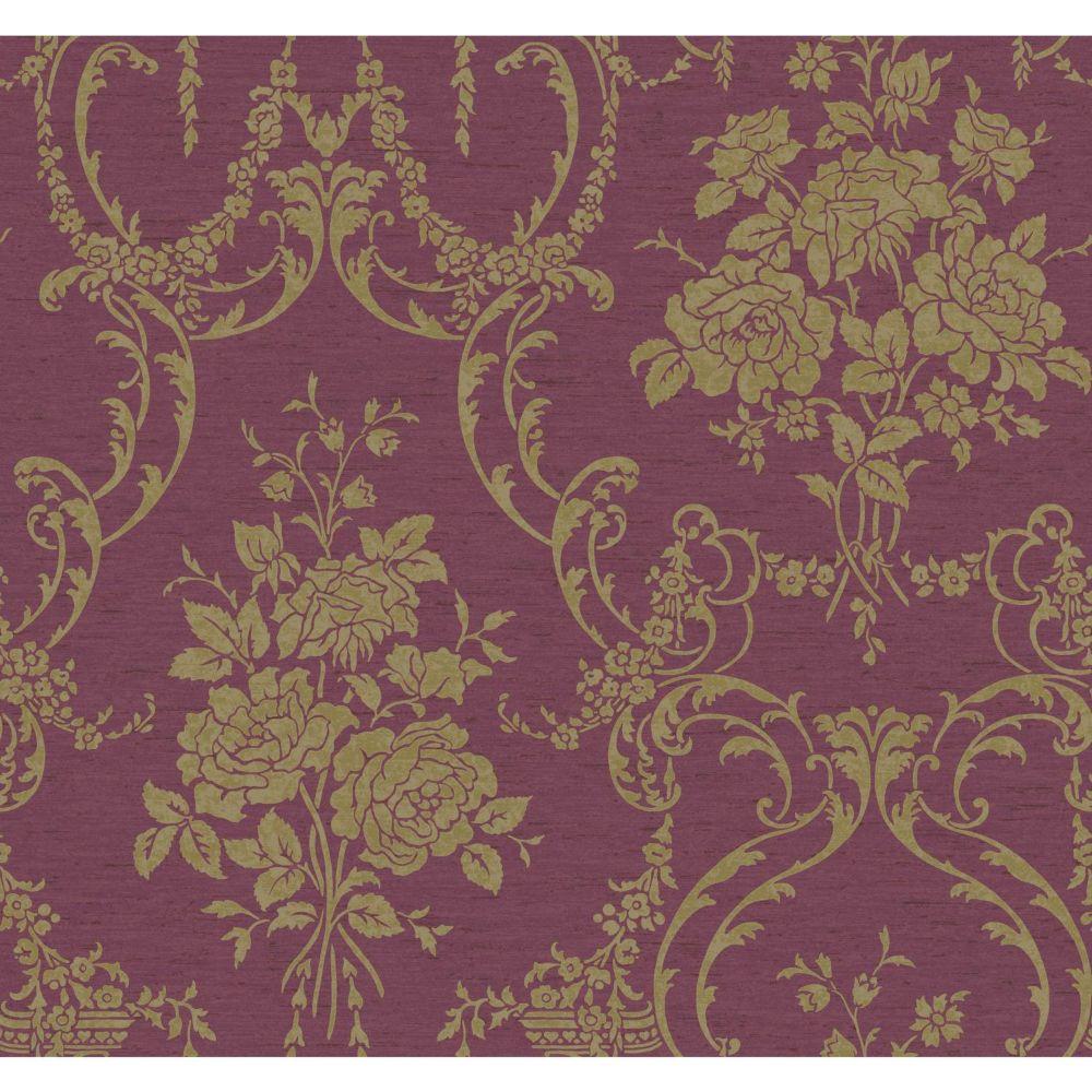 Saint Augustine Neoclassical Rose Damask Wallpaper