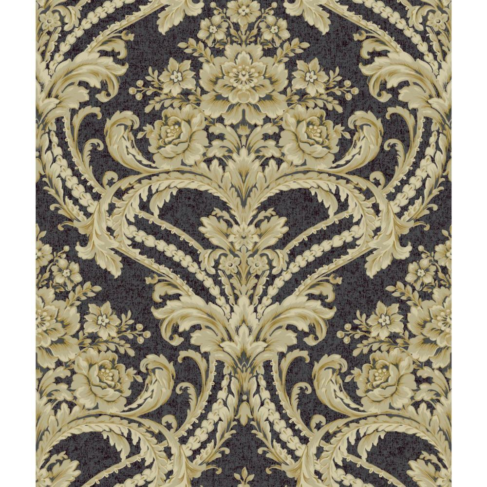 Saint Augustine Baroque Floral Damask Wallpaper