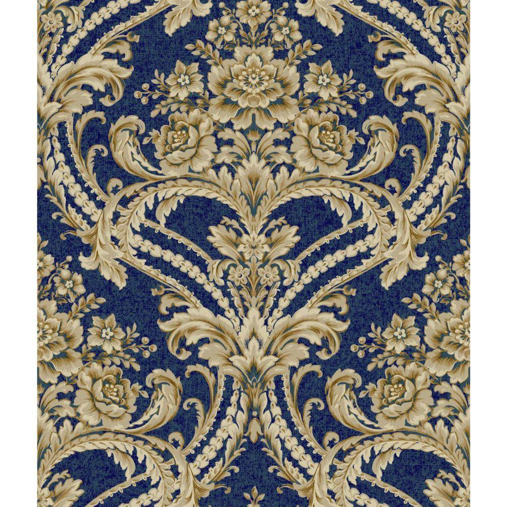 Saint Augustine Baroque Floral Damask Wallpaper