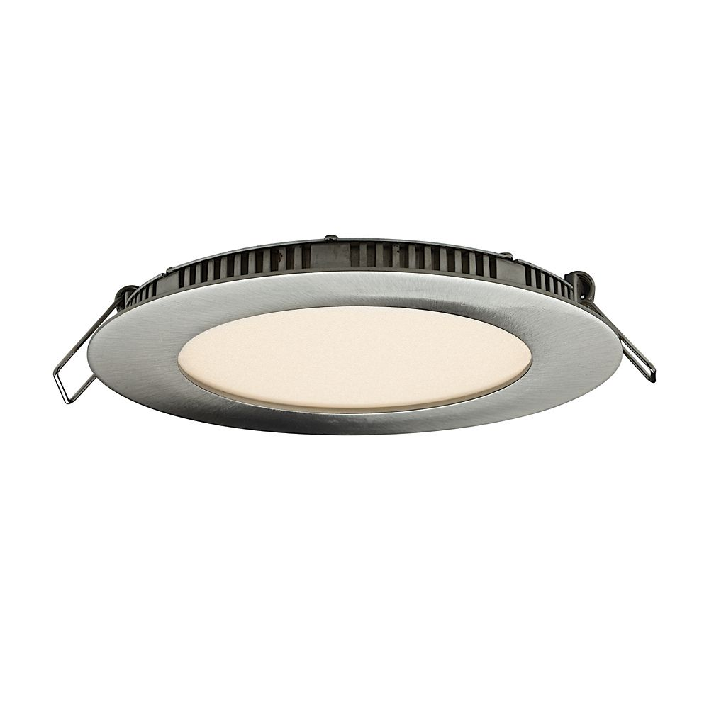 4 Inch Ultraslim Recessed Round LED Panel Satin Nickel