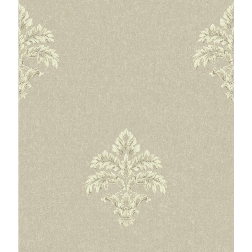 Saint Augustine Baroque Medallion Fleur De Lis Wallpaper