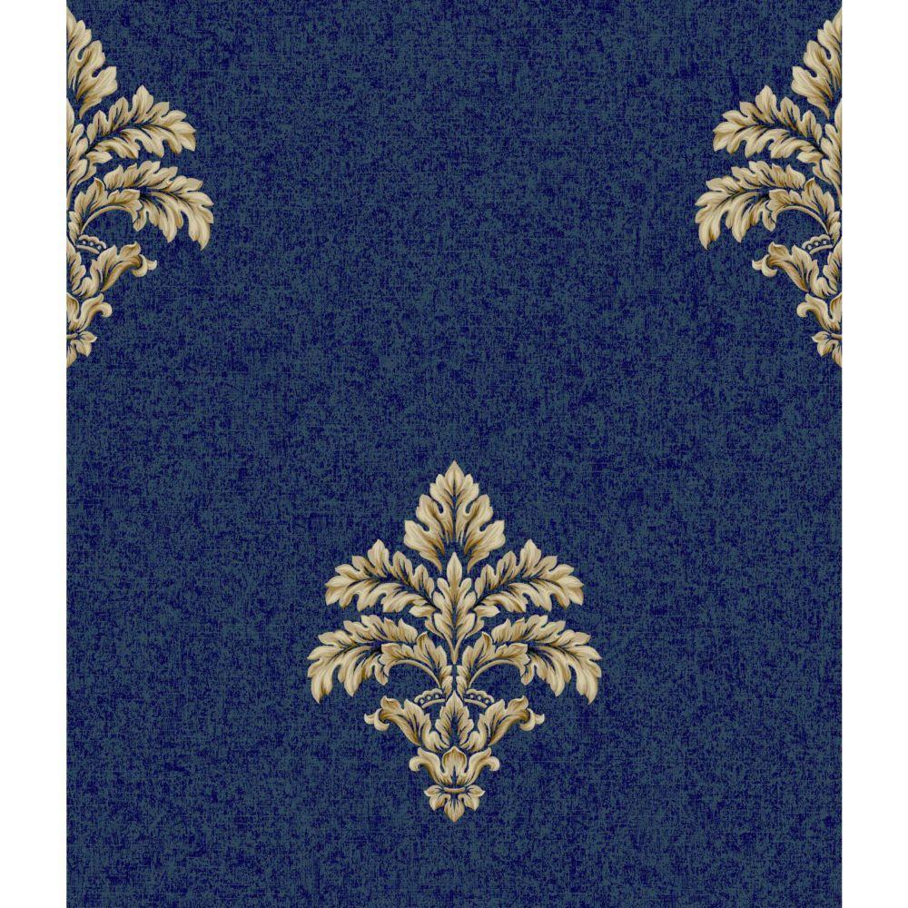 York Wallcoverings Saint Augustine Blue Buff Baroque