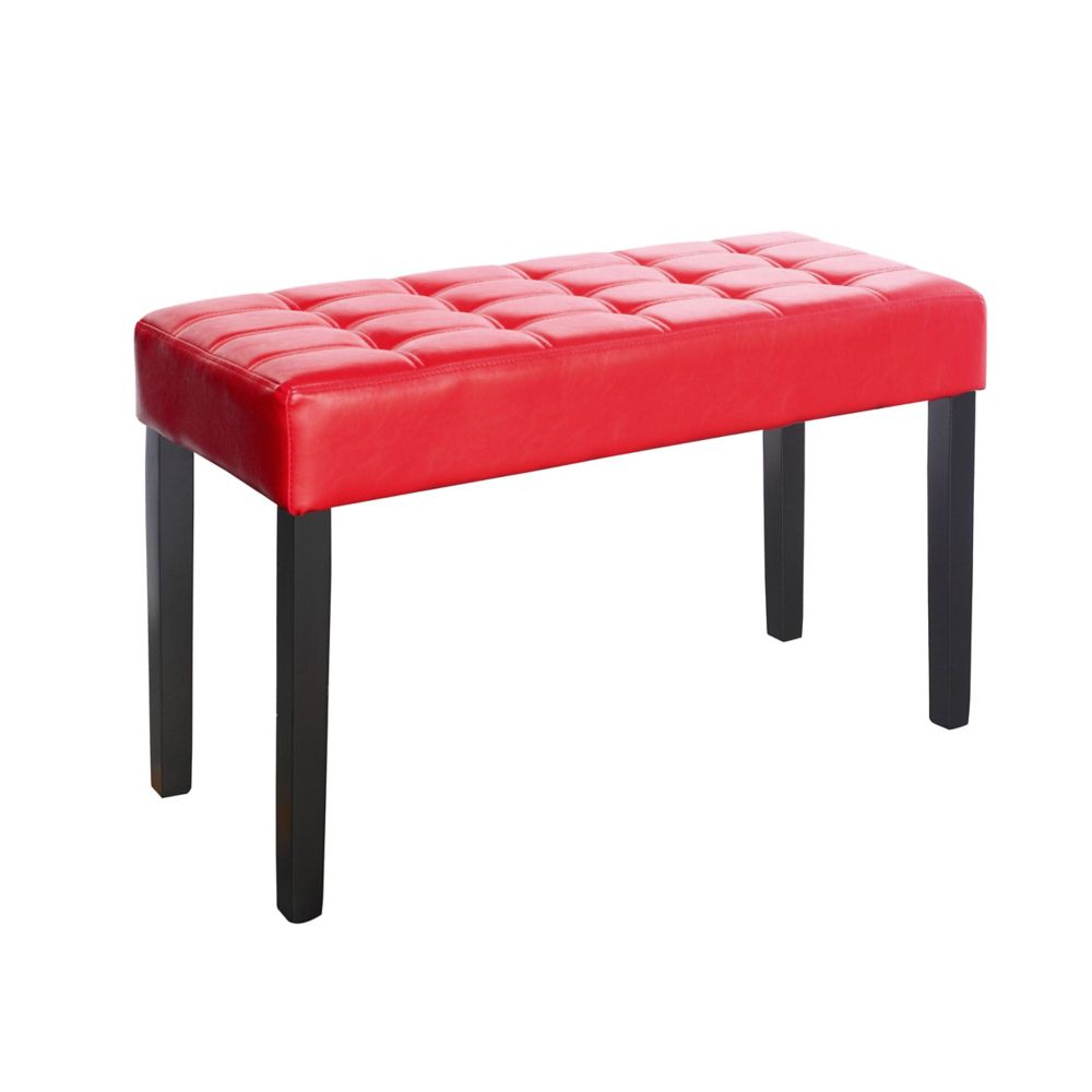 Corliving California 35-inch x 19-inch x 15-inch Solid Wood Frame Bench in Red