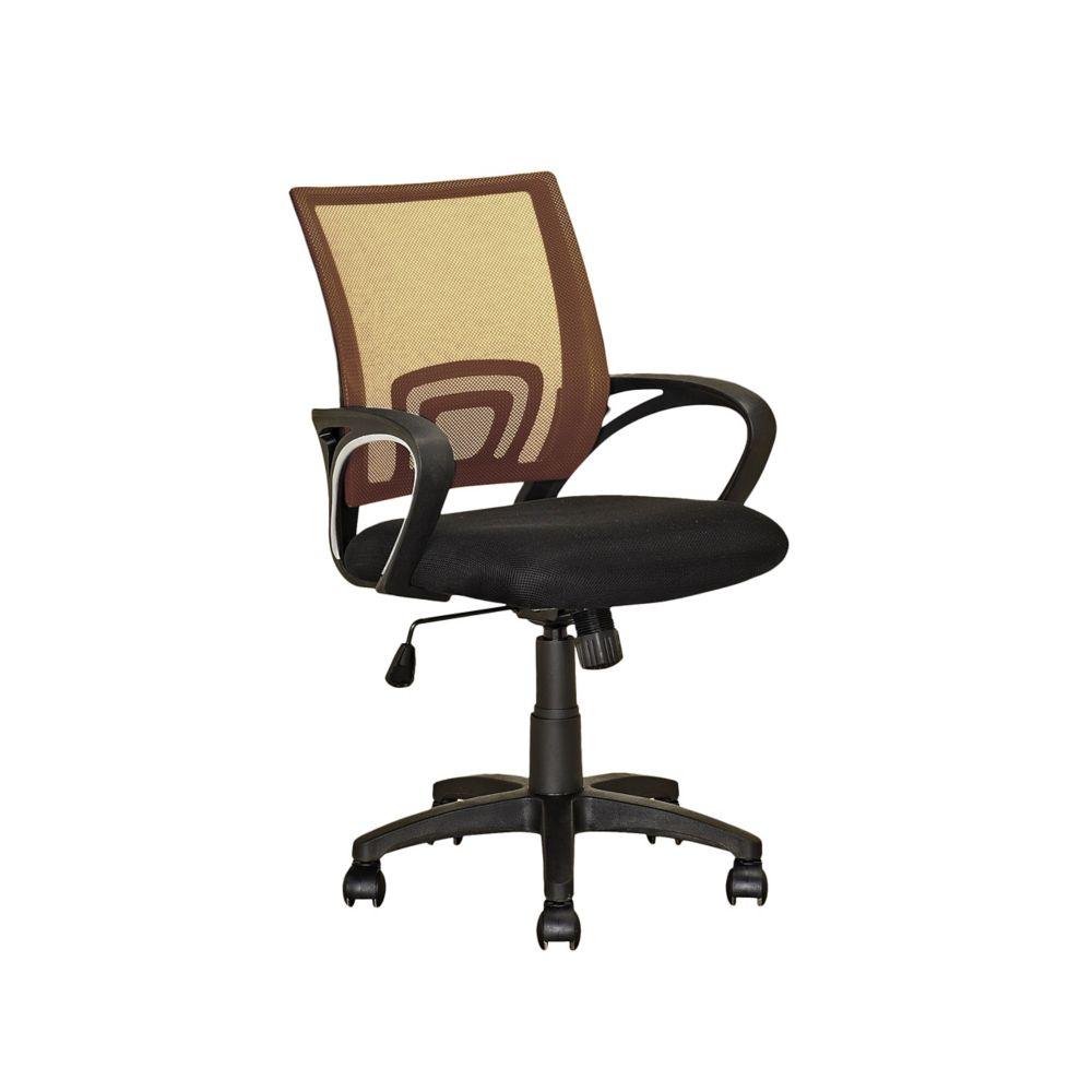Fauteuil de bureau avec dossier brun clair en mailles