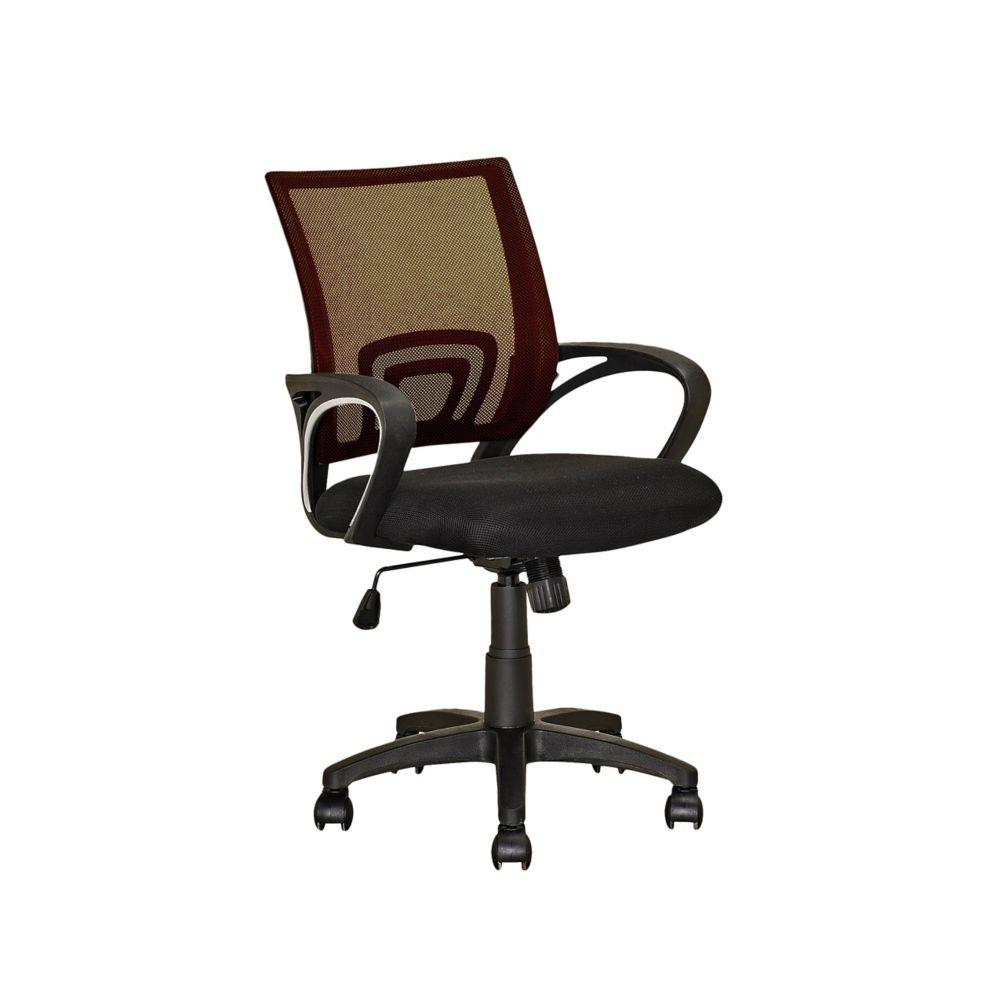 Fauteuil de bureau avec dossier brun foncé en mailles