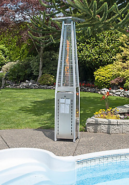 Paramount 40k BTU Flame Stainless Steel Propane Patio Heater | The ...