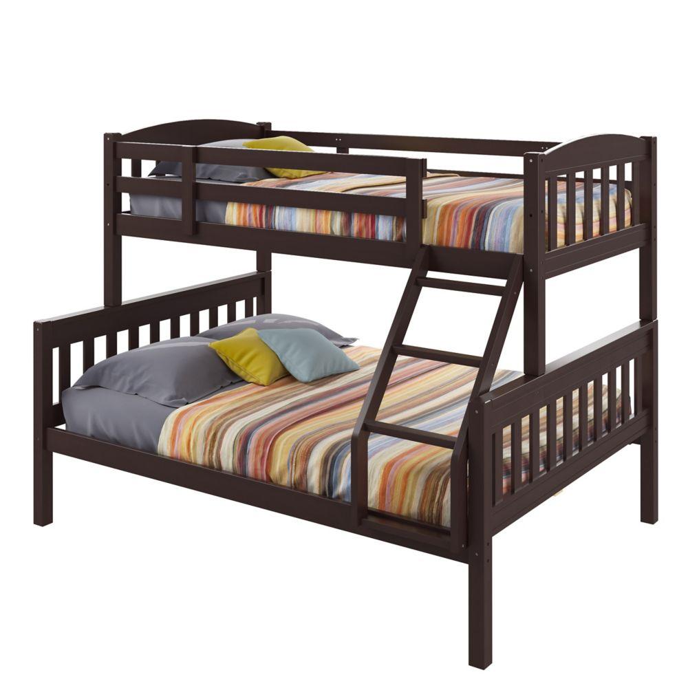Ashland Twin-Over-Full Bunk Bed In Dark Cappuccino