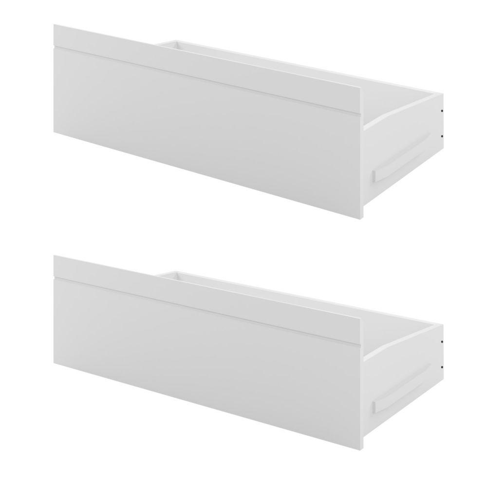 Ashland Bed Storage Drawers In Snow White