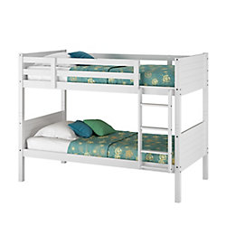 Corliving Ashland Twin/Single Bunk Bed In Snow White