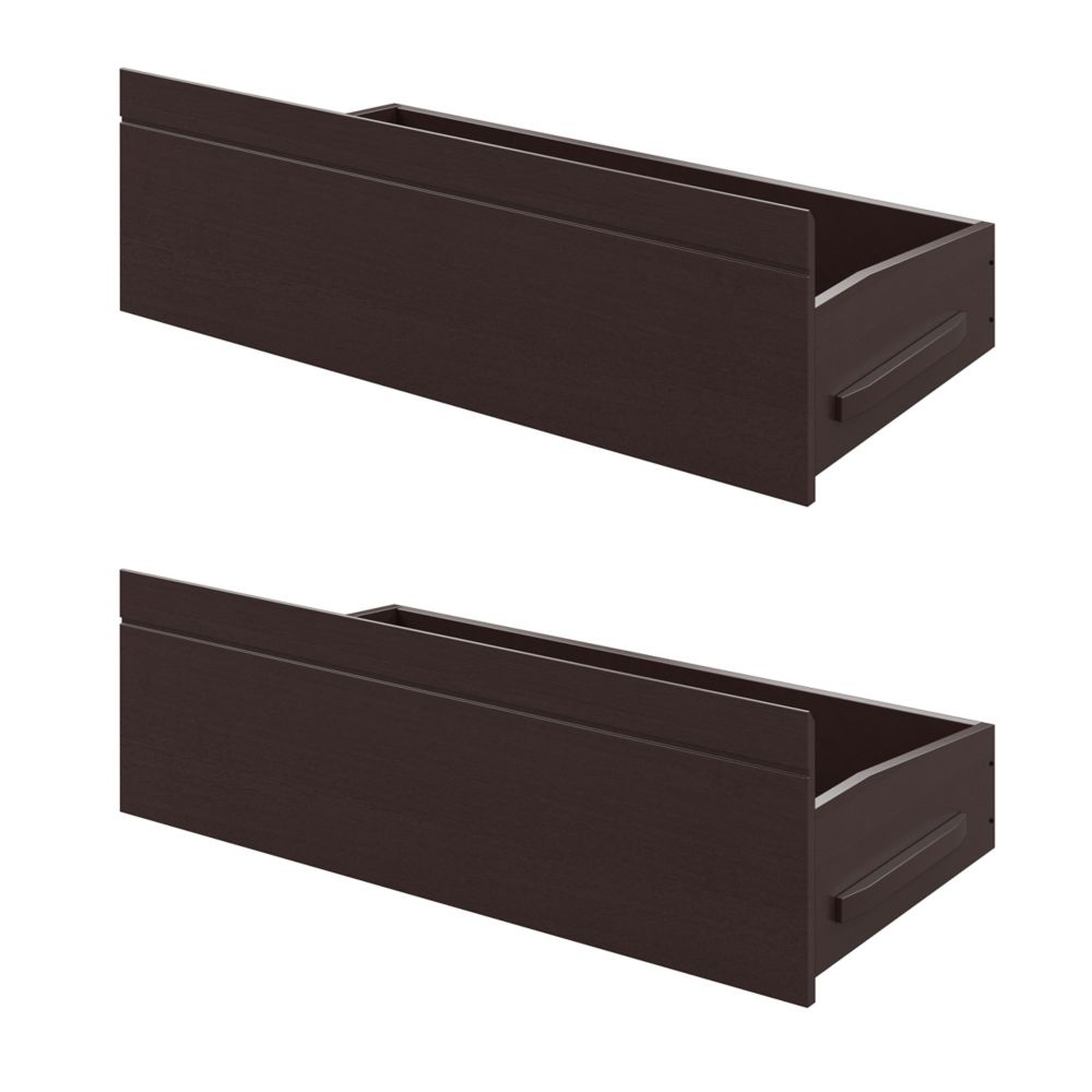 Ashland Bed Storage Drawers In Dark Cappuccino
