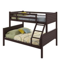 Corliving Ashland Twin-Over-Full Bunk Bed In Dark Cappuccino