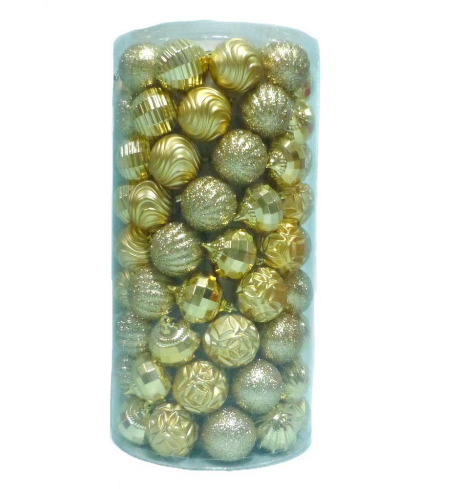 101 Pièces ornements dorés résistants aux bris
