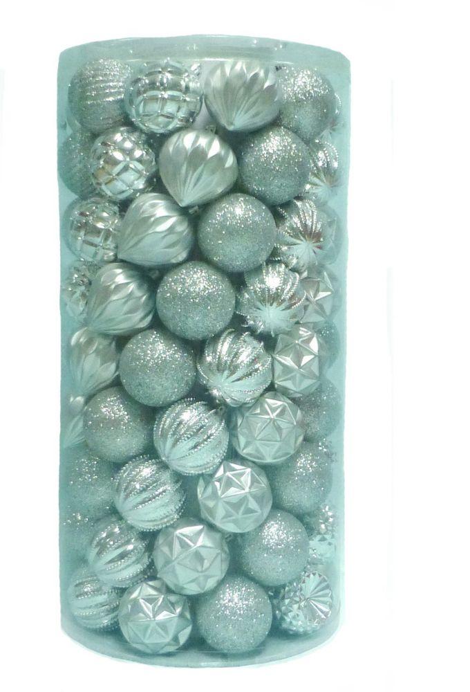 101 Pièces ornements argentés résistants aux bris