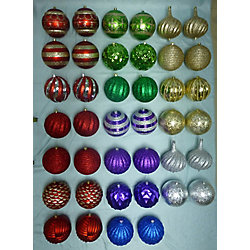 Home Accents Holiday 200mm Shatter-Proof Christmas Ornament (Assorted)