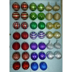 Home Accents Holiday Boules de Noël résistantes aux bris variées, 200 mm