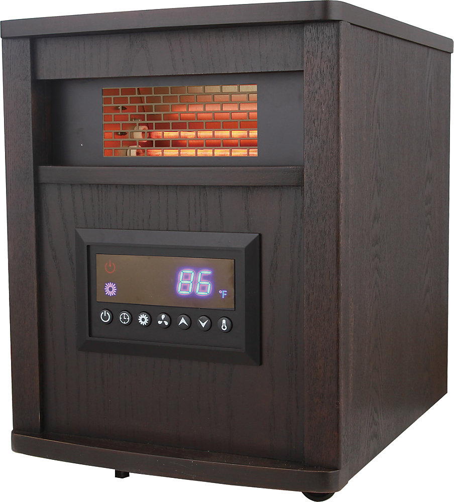 Chaufferette Infrarouge avec 4 Éléments en Quartz – Cabinet en bois