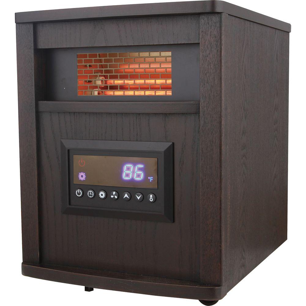 Konwin Infrared Quartz Heater, Wood Cabinet- 4 elements