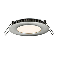 3 Inch Ultraslim Recessed Round LED Panel Satin Nickel
