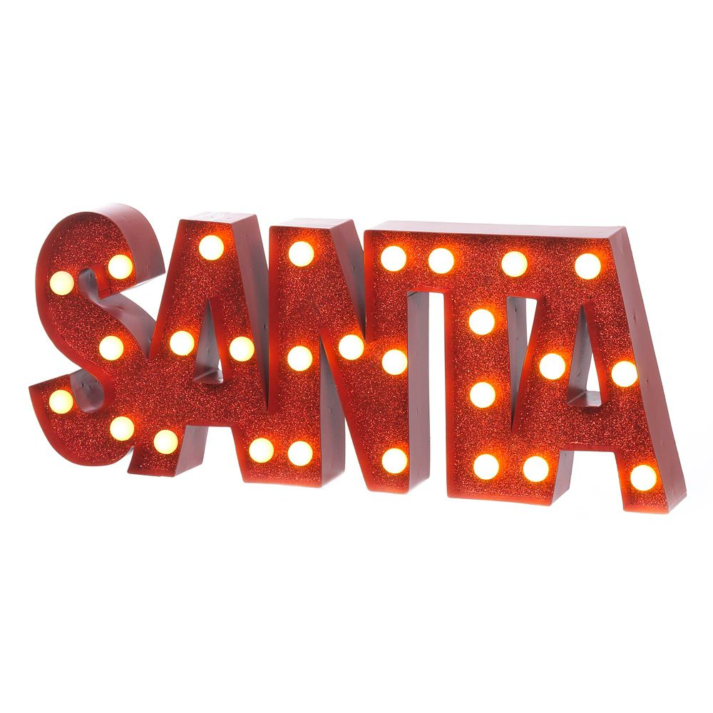 9 Inch Marquee Sign - SANTA
