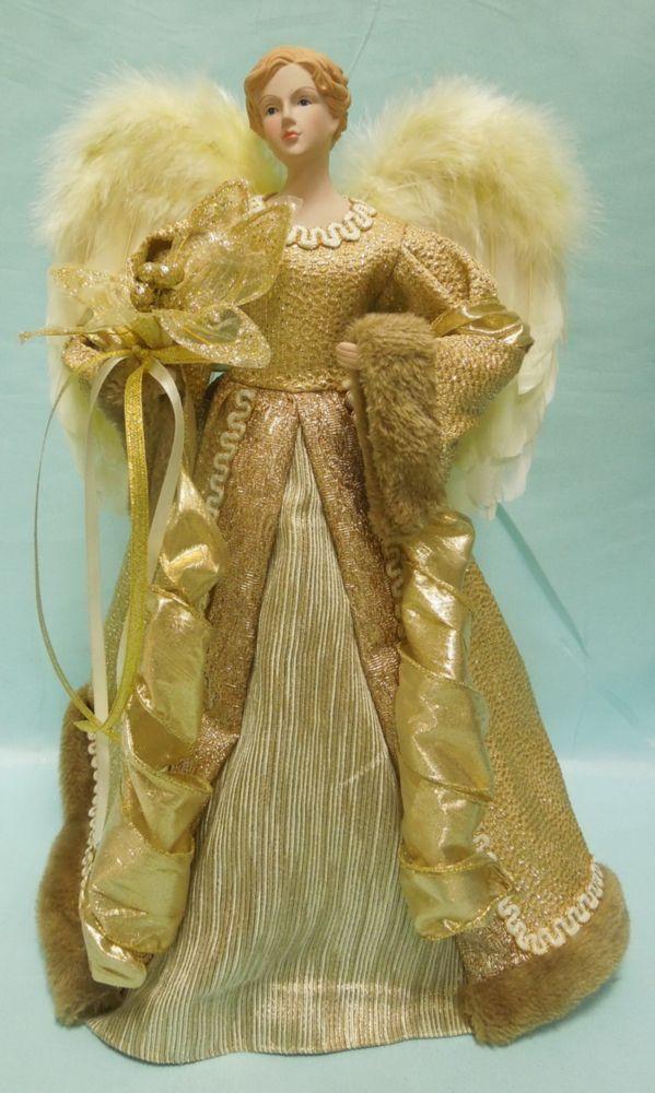 Ange en tissu doré de 45,7 cm