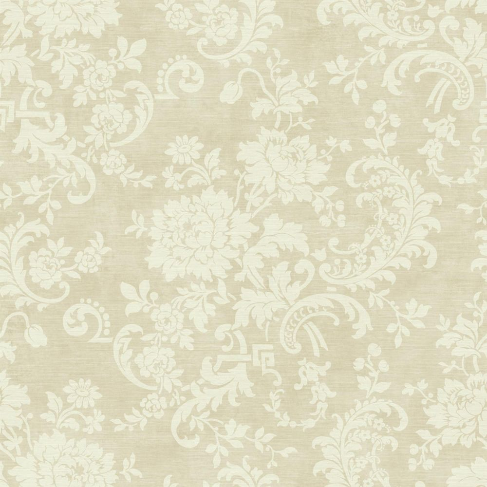 Sapphire Oasis Silk Floral Wallpaper