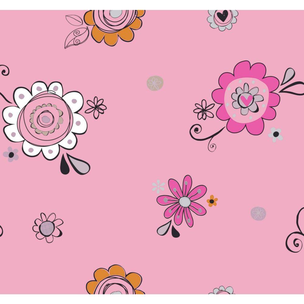 Room To Grow Doodlerific Floral S Wallpaper