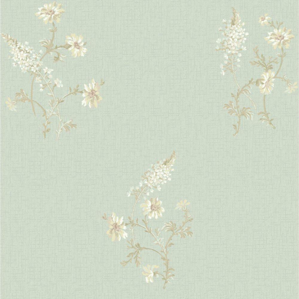 Sapphire Oasis  Flora Wallpaper