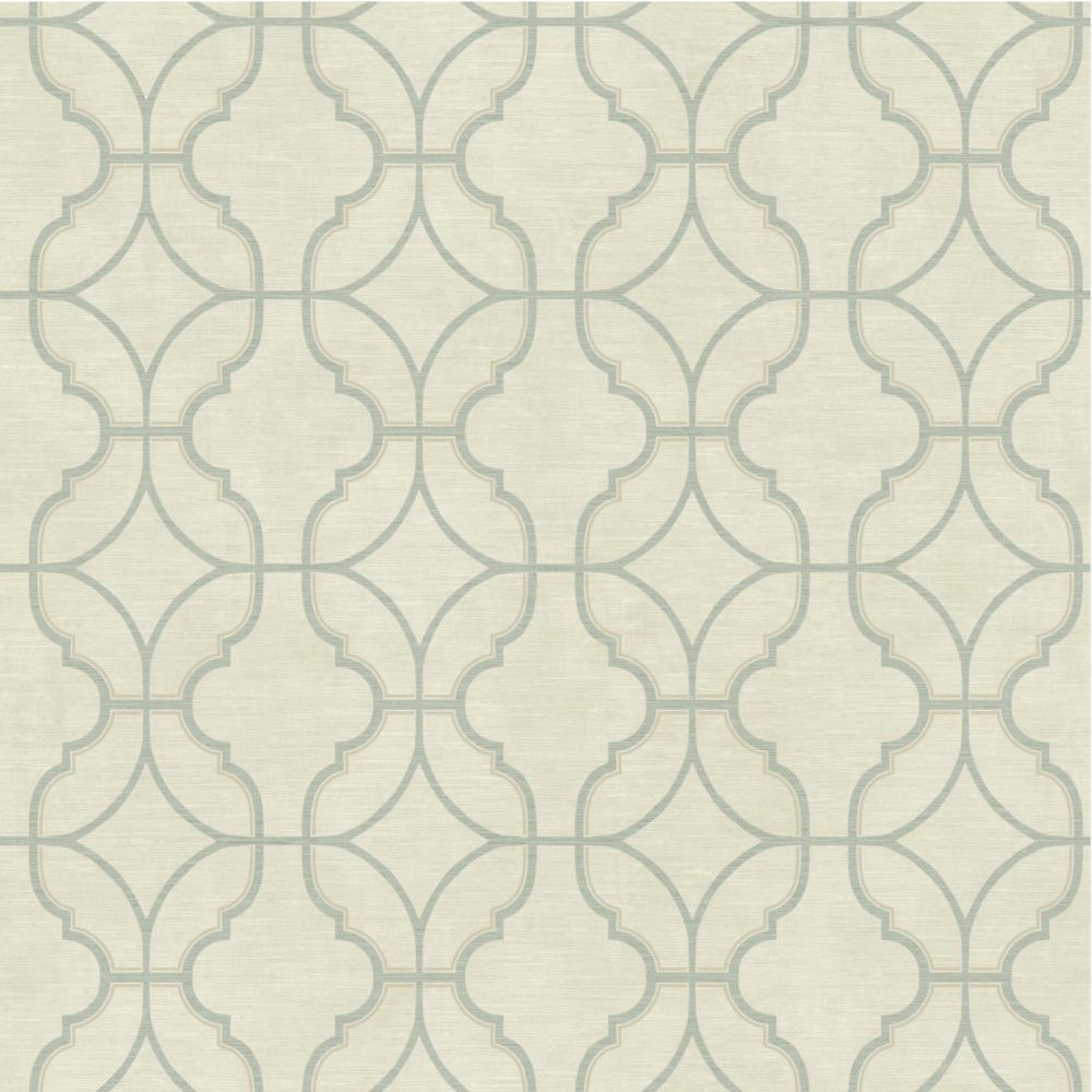 Sapphire Oasis Lattice Wallpaper