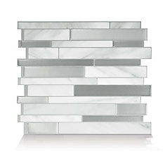Milano Carrera 11.55-inch W x 9.65-inch H Peel and Stick Decorative Wall Tile