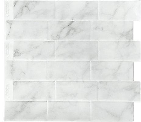 StickIt Tiles MARBLE GREY Peel And Stick SUBWAY X Bulk Pack - Bulk subway tile