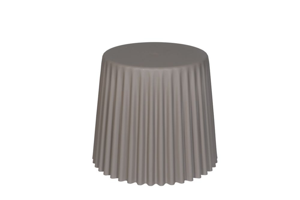 Fluted Garden Stool in Taupe