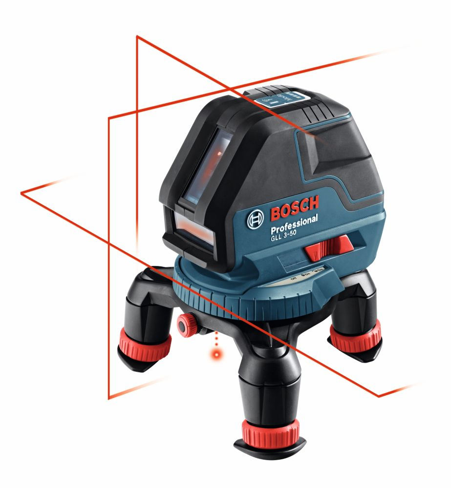 Bosch 360 Three-Plane Leveling and Alignment-Line Laser with Four AA batteries