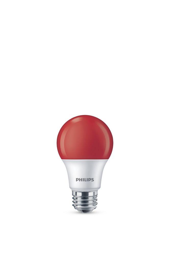 DEL 60 W rouge A19 ampoule colorée