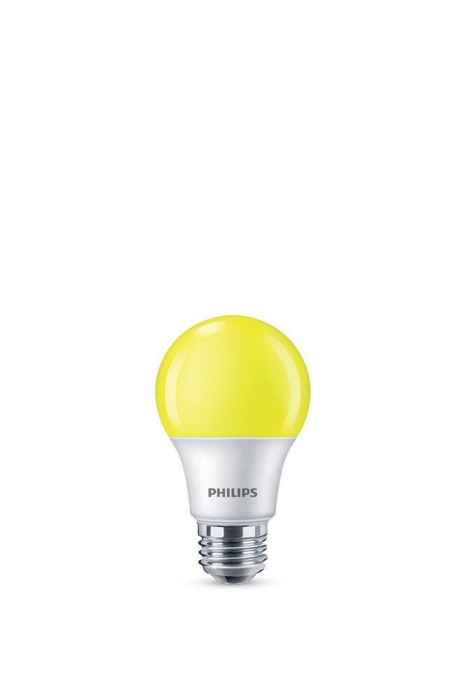 DEL 60 W jaune A19 ampoule colorée - Lumière anti-insectes