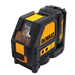 DEWALT 12V MAX Lithium-Ion 165 ft. Red Self-Leveling Cross-Line Laser Level with (AA) Starter Kit & Case