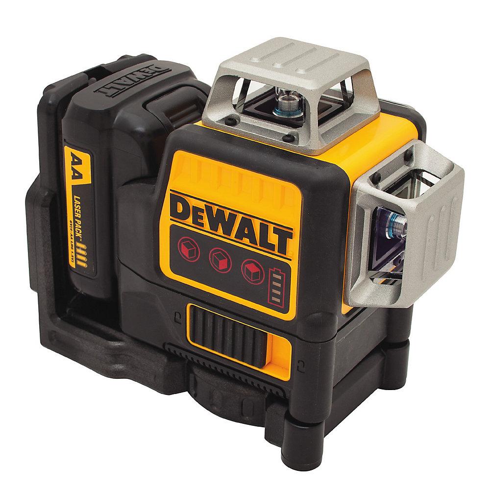 DW089LR 12V MAX 3 x 360 Red Line Laser