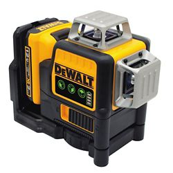 DEWALT 12V MAX Li-Ion 100 ft. Green Self-Leveling 3-Beam 360 Degree Laser Level w/ Battery 2Ah, Charger and Case