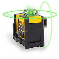 12V MAX Li-Ion 165 ft. Green Self-Leveling 2 X 360 Degree Line Laser w/ Battery 2Ah, Charger, & TSTAK Case