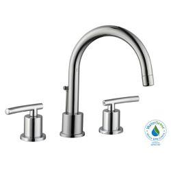 GLACIER BAY Dorset 8-inch Widespread 2-Handle Bathroom Faucet in Chrome