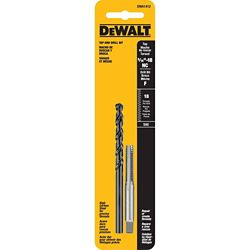 DEWALT F Drill and 5/16 inch x 18 NC Tap Set